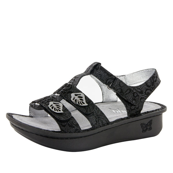 Kleo Black Leaf Sandal