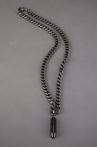 Heavy Metal Chunky Chained Bullet Necklace