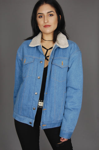 One More Chance Vintage - Vintage Got The Blues Sherpa Denim Jacket
