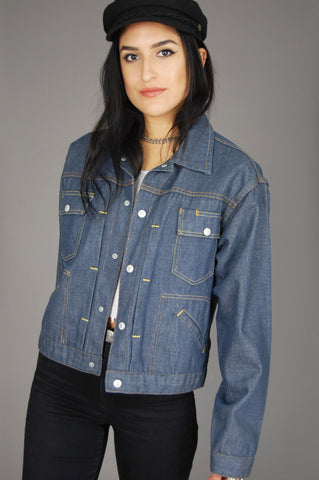 Blue Selvedge Denim Workwear Jacket - One More Chance Vintage