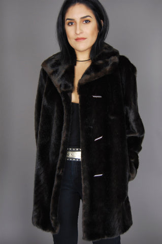 One More Chance Vintage - Vintage Won't Get Fooled Again Faux Fur Jacket