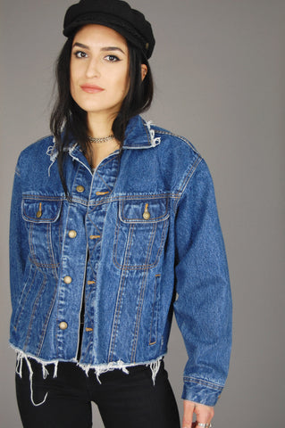 Wrangler Rugged Wear Distressed Cutoff Denim Jacket - One More Chance Vintage