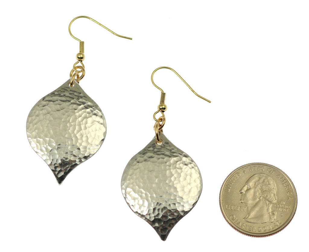 Hammered Aluminum Marrakesh Drop Earrings