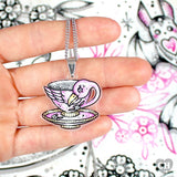NECKLACE - 'Flamingo TEACUP' Necklace