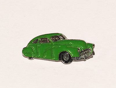 LAPEL BADGES / BROOCHES -  Hot Rod sled - Light green