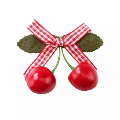 HAIR CLIP - Cherry Bows