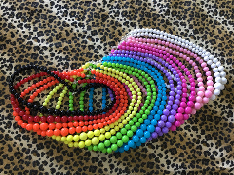 NECKLACE- Coloured beaded necklace