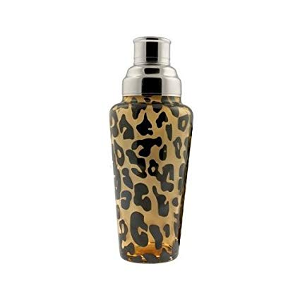 COCKTAIL SHAKERS -1000ml glass - Leopard Print