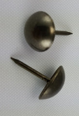 "(Black Nickel Finish) 7/16"" Decorative Upholstery Tacks, Round Head (100)"