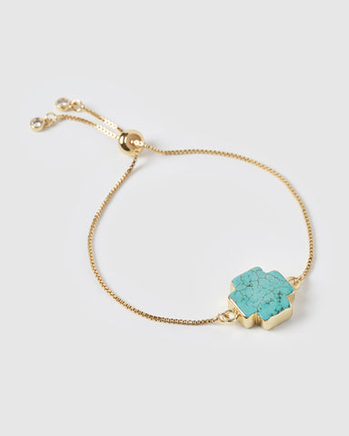 Miz Casa & Co Isla Pendant Necklace Turquoise Gold