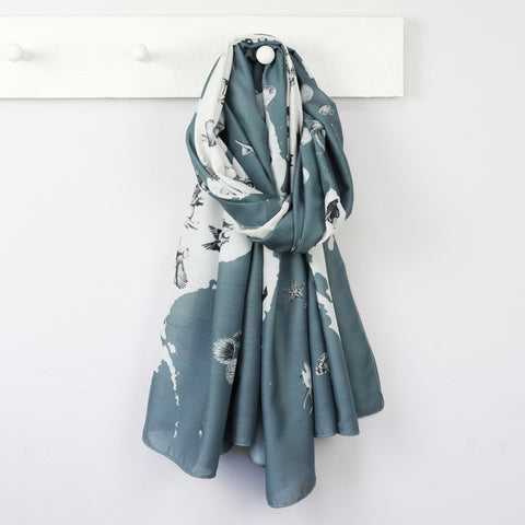 Animal Map Scarf | Scarves for Animal Lovers