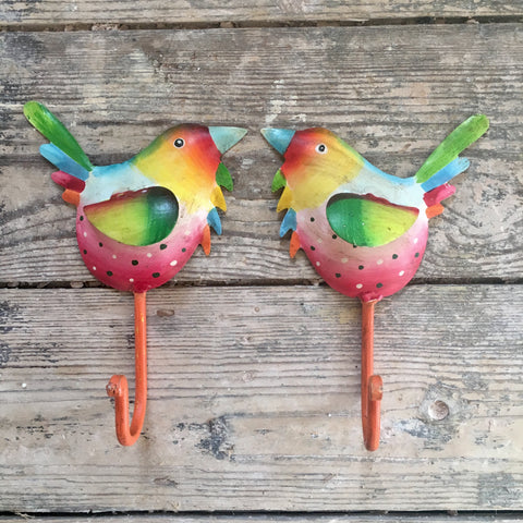Pair of Garden Bird Hooks | Handcrafted Gifts for Animal Lovers