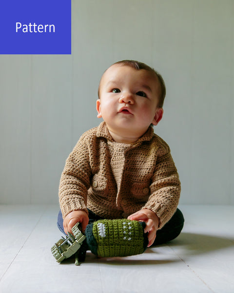 Baby Marine Sweater Crochet Pattern, Instant PDF Download