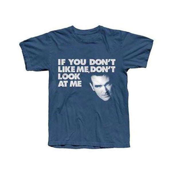 DON'T LOOK AT ME INDIGO T-SHIRT
