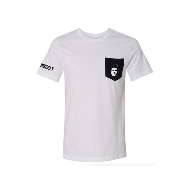 EVERYDAY FACE POCKET WHITE T-SHIRT