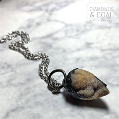 Electroformed Fossilized Sea Shell Necklace #1