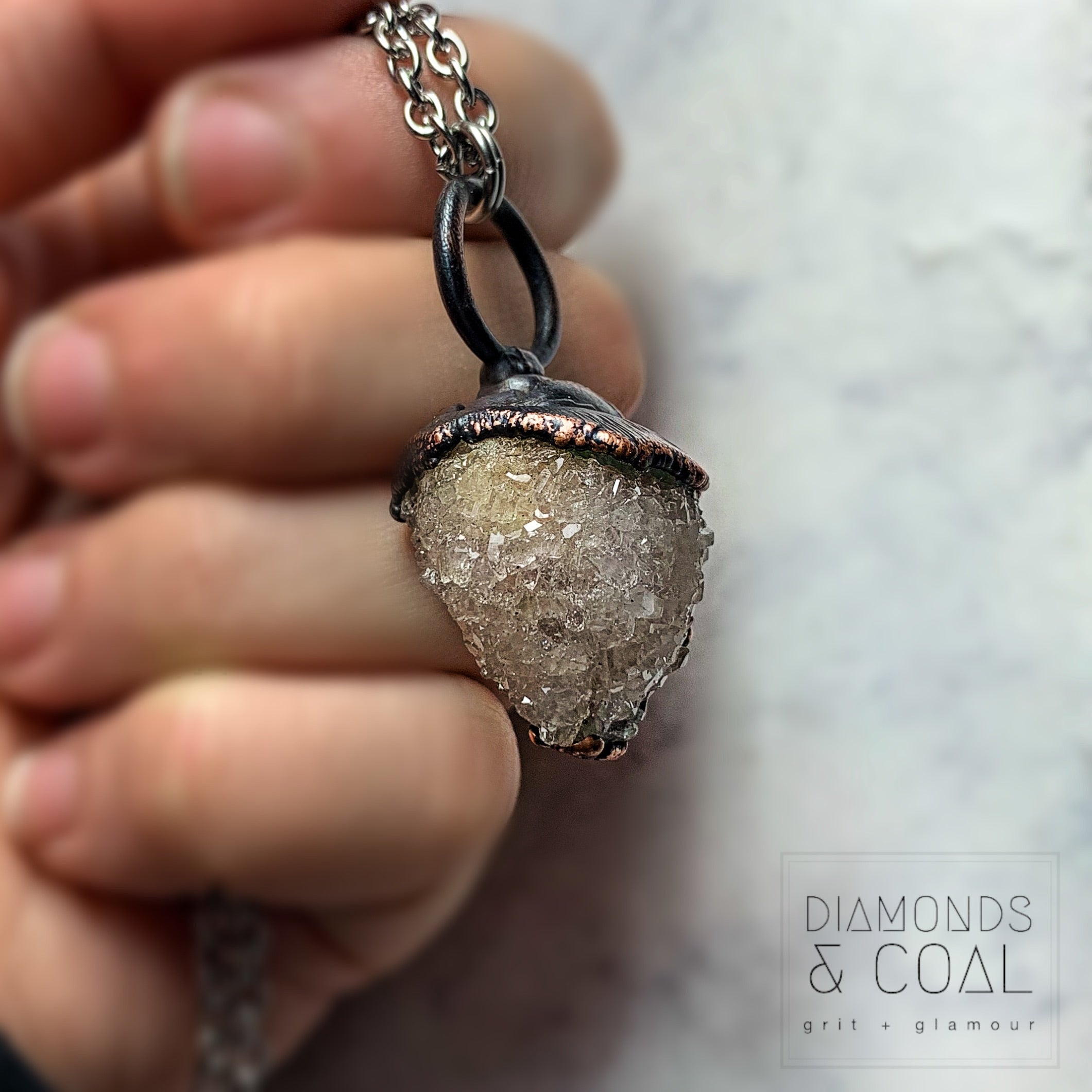 Electroformed Fossilized Sea Shell Necklace #2
