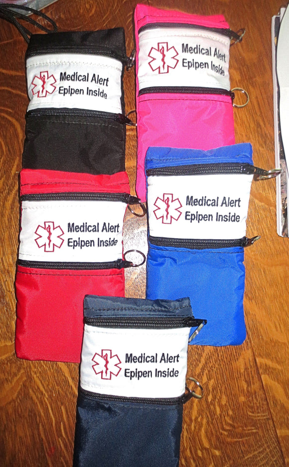 Epipen ® Insulated Case carrier holder pouch for epinephrine auto-injector systems white label