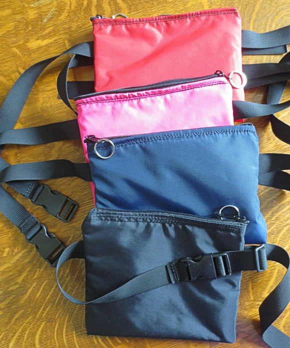 Insulated waist pouch bag or pack - great for medications, small electronics, cameras