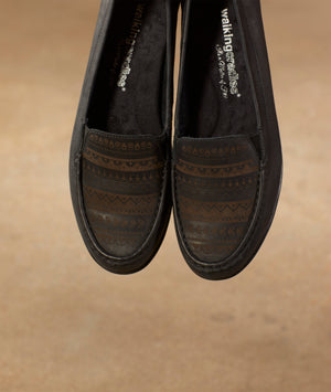 Mick: Black Antique Silky Leather