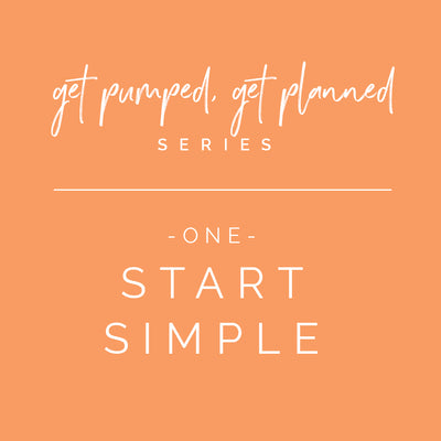 Series: Get Pumped, Get Planned! | New Planner? Start Simple!