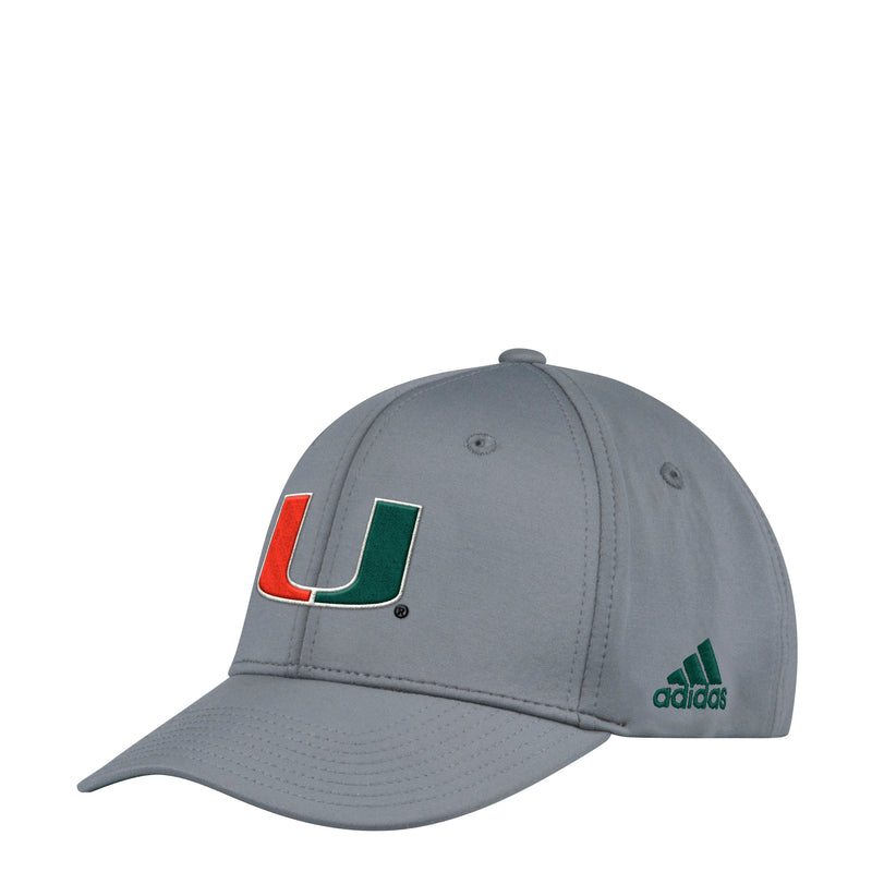 Miami Hurricanes adidas 2018 Spring Game Adjustable Structured Hat - Grey