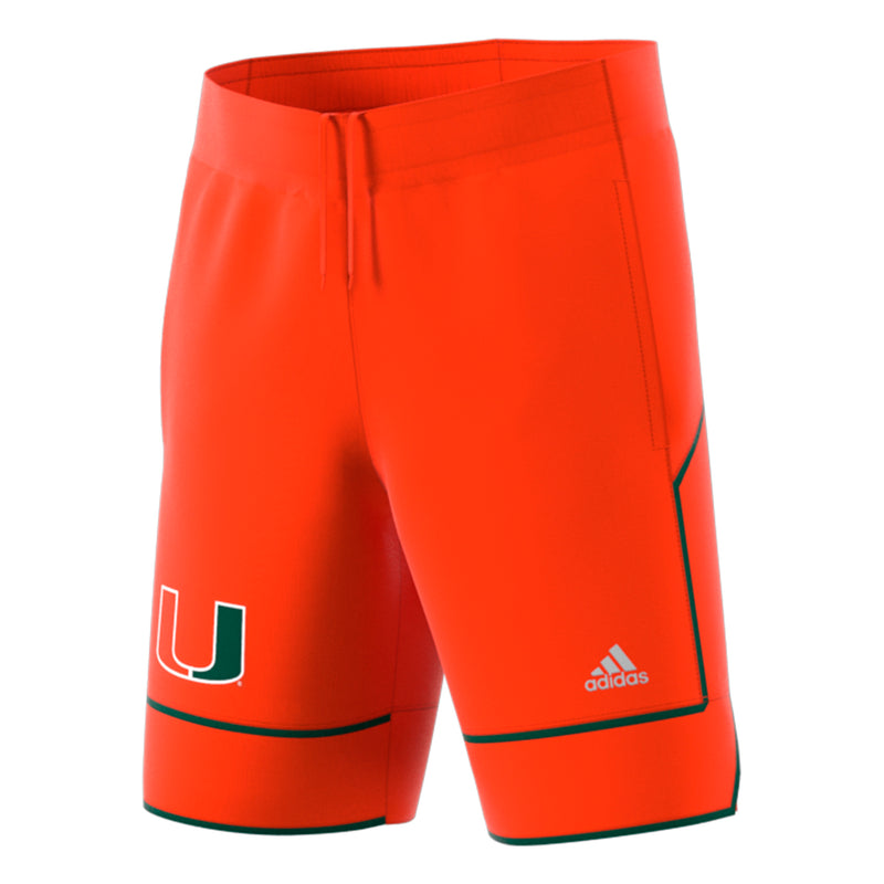 Miami Hurricanes adidas 2018 Basketball Shorts - Orange