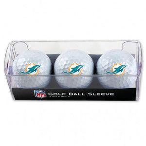 Miami Dolphins Golf Ball Pack of 3