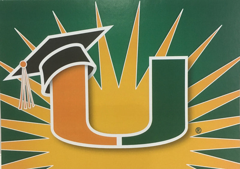 Miami Hurricanes Graduation Card