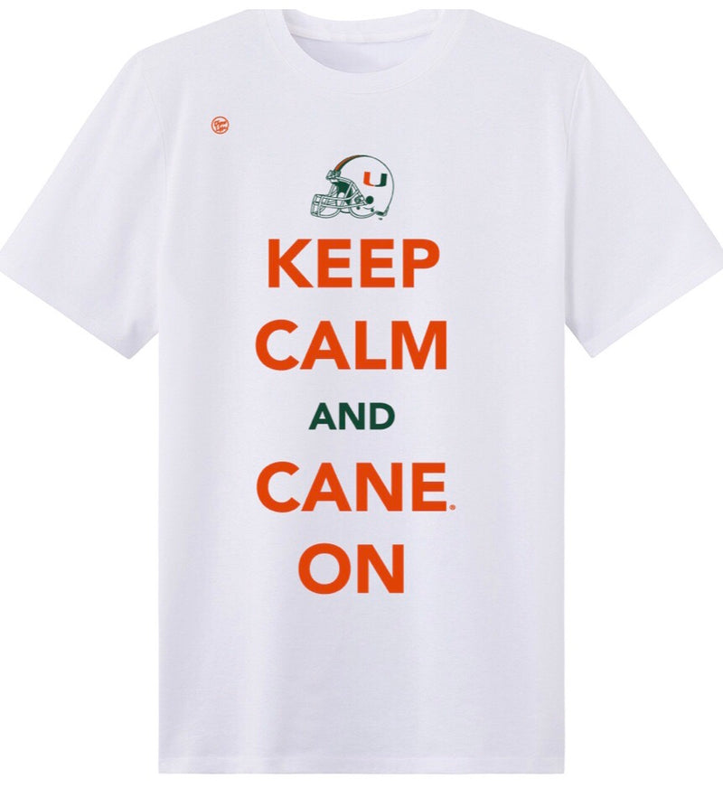 Miami Hurricanes Men's Dyme Lyfe Keep Calm and Cane On T-Shirt