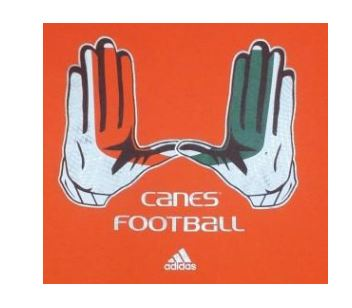 Miami Hurricanes adidas Go-To Performance U Glove T-Shirt - Orange