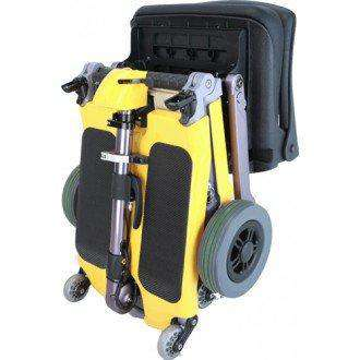 Luggie Standard Folding Travel Scooter Yellow Open Box