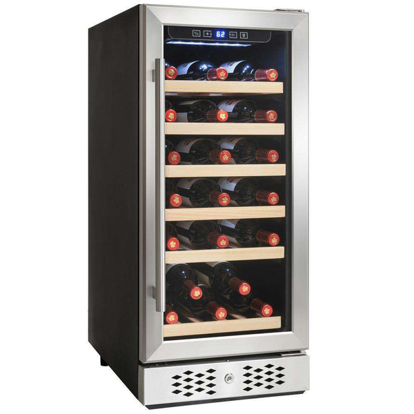 AKDY WC0033 15 in. 30-Bottle Wine and 60-Can Built-in Compressor Beverage Cooler Stainless Steel New