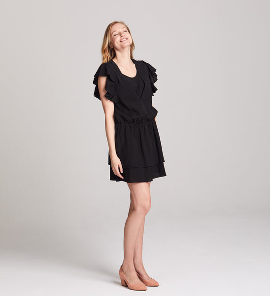 Naomi Ruffled Nursing Dress