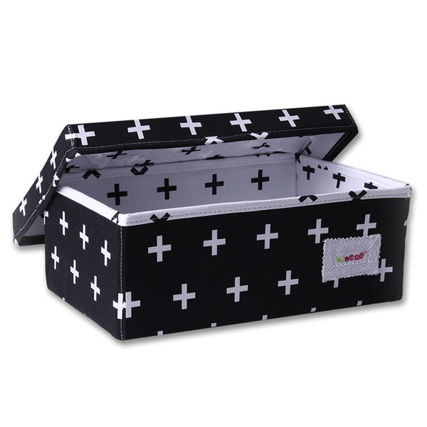 Small Storage Box - Black and White Crosses