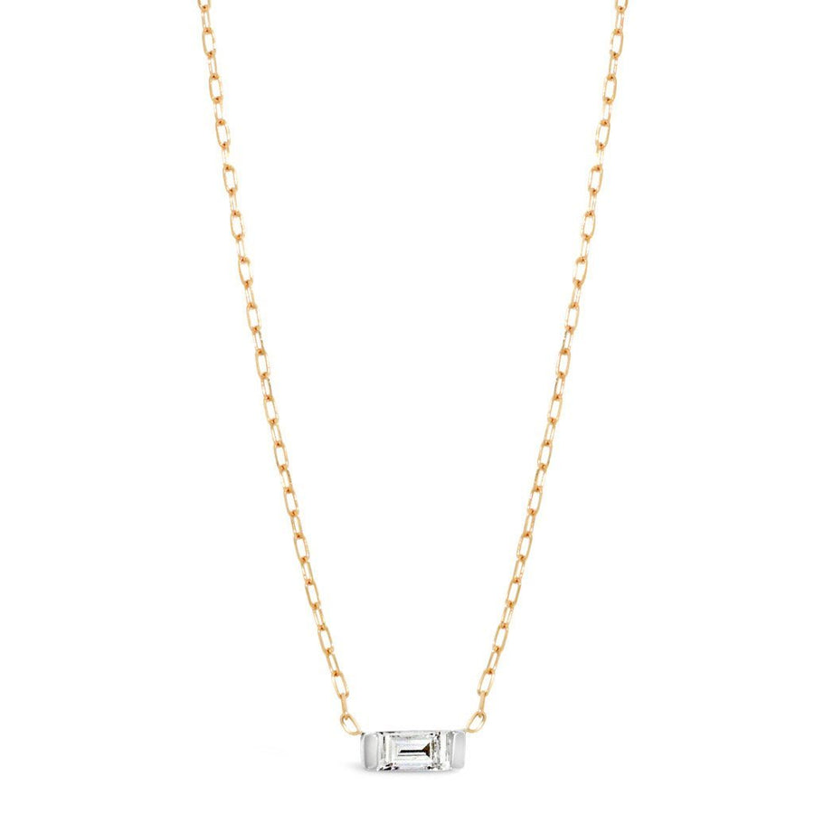 baguette-diamond-Necklace-rose-gold-white-gold-sydney-jewellers-lizunova