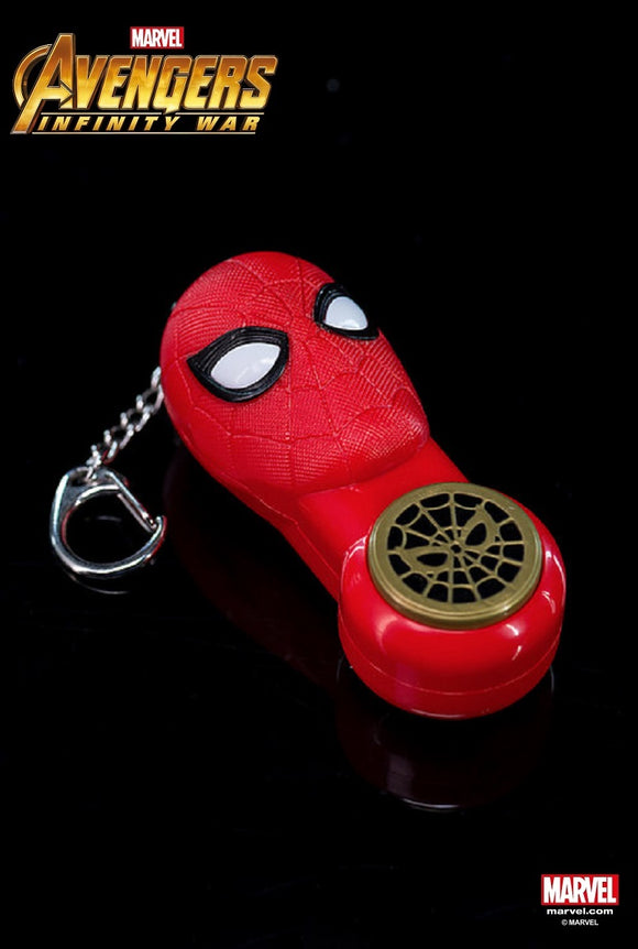 Avengers 3 Infinity War Iron Spiderman - Keychain With Small Flashlight - HERO AUDIO