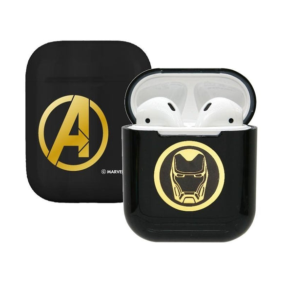 Marvel Avengers Iron Man Airpod Casing Iphone Airpods Accessories (Black) - HERO AUDIO