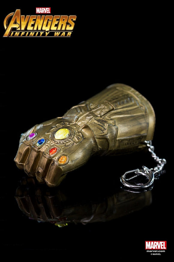 Avengers 3 Infinity War Thanos Gauntlet - Keychain With Small Flashlight - HERO AUDIO