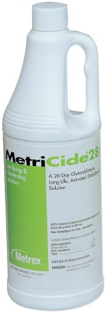 MetriCide¨ 28 Glutaraldehyde High Level Disinfectant Activation Required Liquid 32 oz. Bottle Max 28 Day Reuse