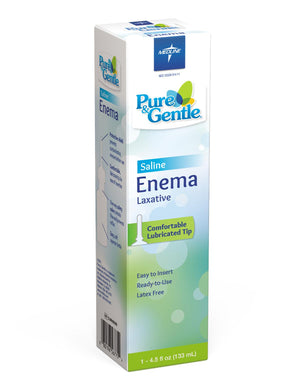 Medline Pure & Gentle Disposable Saline Enema,4.500 OZ, Case of 24