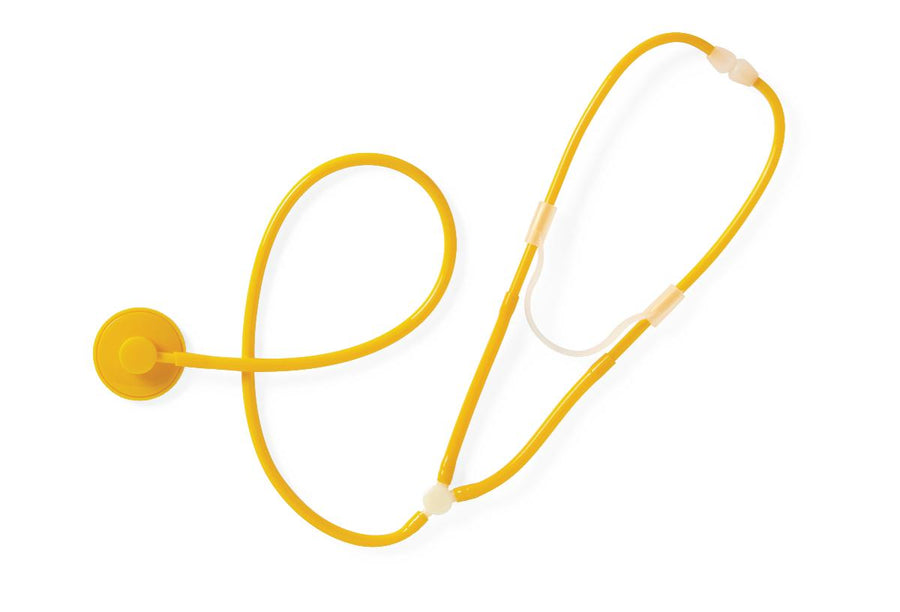Disposable Stethoscope,Yellow, Each