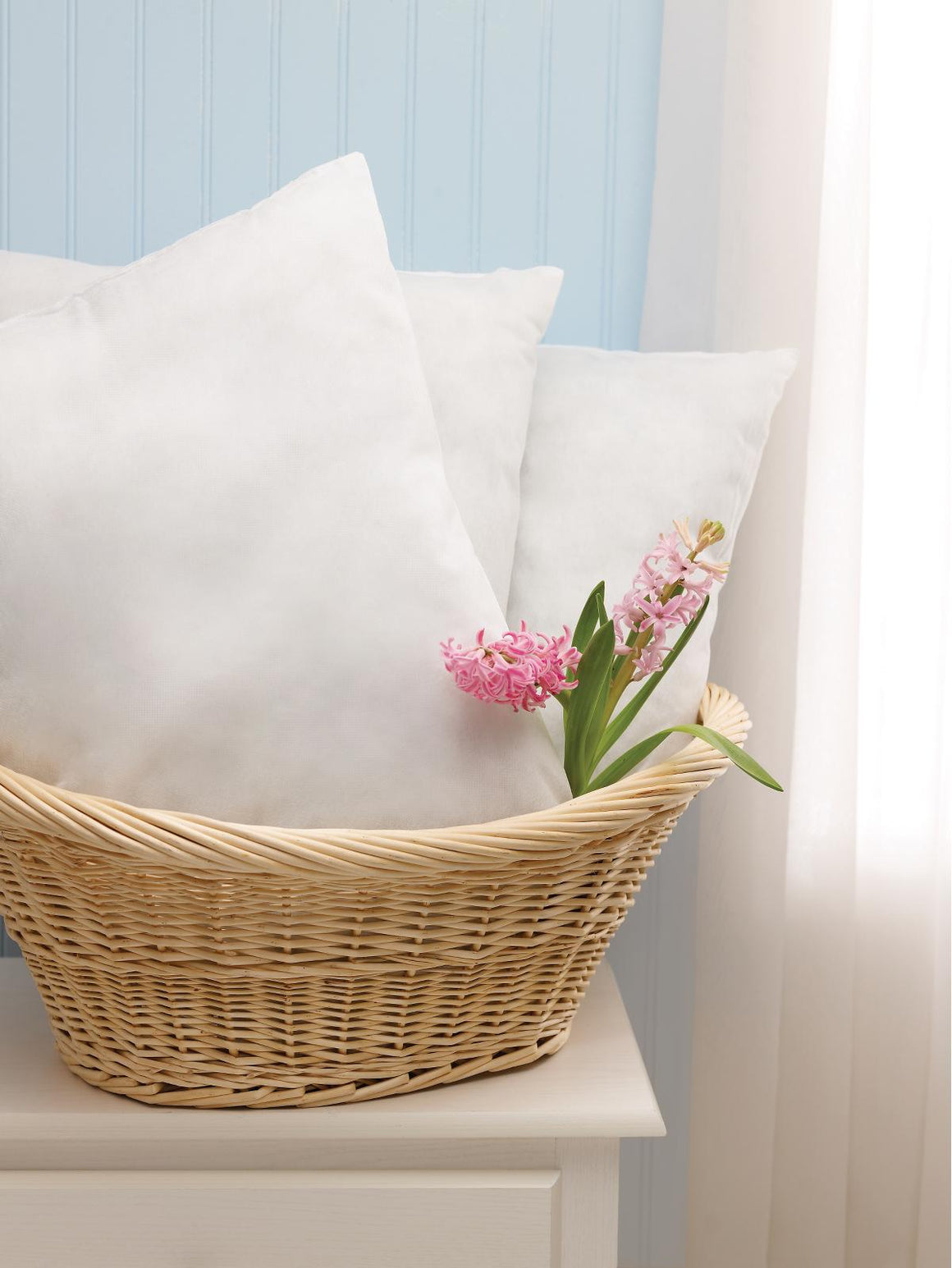 Classic Disposable Pillows,White, Case of 12