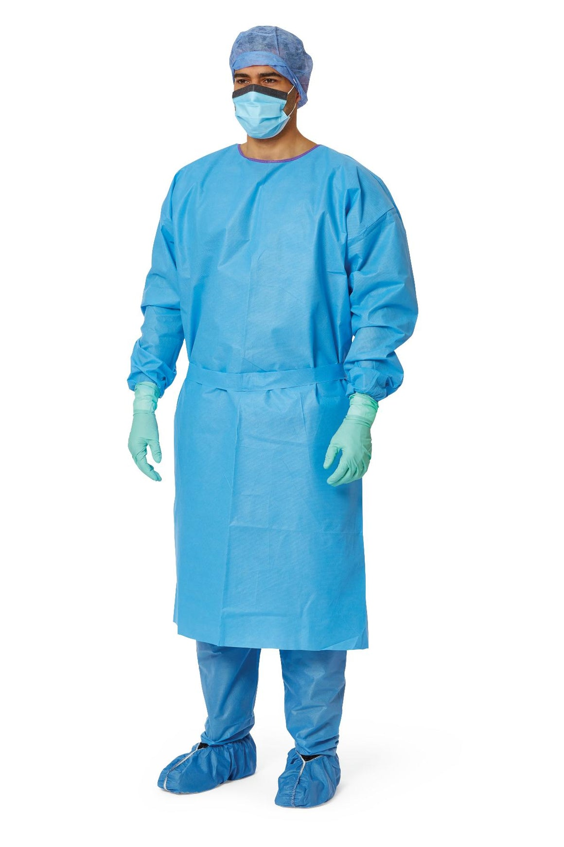 AAMI Level 3 Isolation Gowns,Blue,Regular/Large, Case of 50