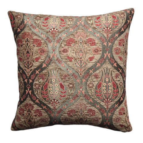 Floral Ethnic Pillow Cover - Turkish Pillow Cover