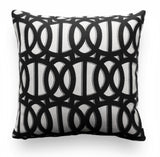 Outdoor Pillow Cover - Black and White Pillow Cover - Sunbrella Pillow Cover - Reflex Classic - Patio Pillow - Outdoor Throw Pillow Cover