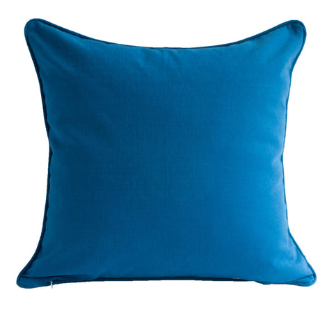 P Kaufmann Solid Blue Pillow Cover - w/ Zipper and Custom Piping