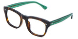 Green Main ZILOE Edge Designer Oversized Tortoise Acetate Prescription Glasses