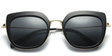 Black Main ZILOE Retro C Polarised Designer Oversized Sunglasses