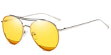 Bumblebee Main ZILOE Zoom Metal Aviator Yellow Sunglasses